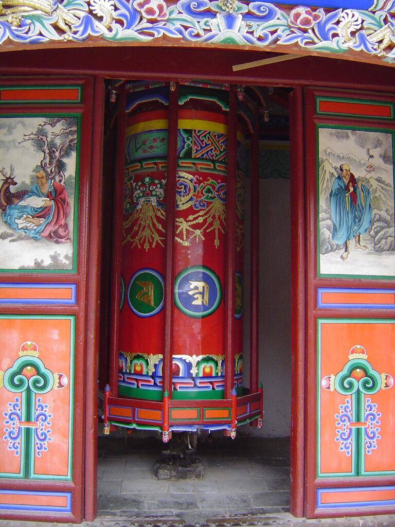 Eine der unzähligen quietschenden Gebetsmühlen