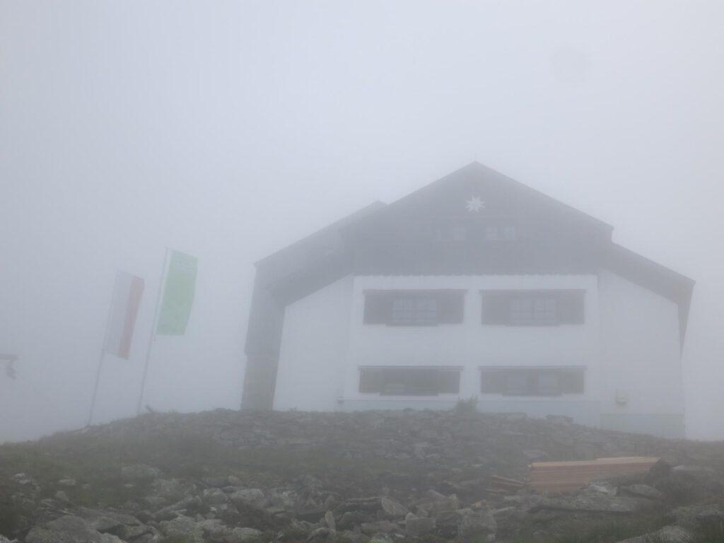 Greizer Hütte im Nebel
