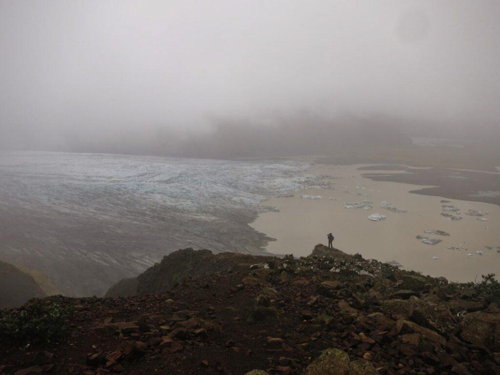 Blick auf den Gletschersee bei Skaftafell