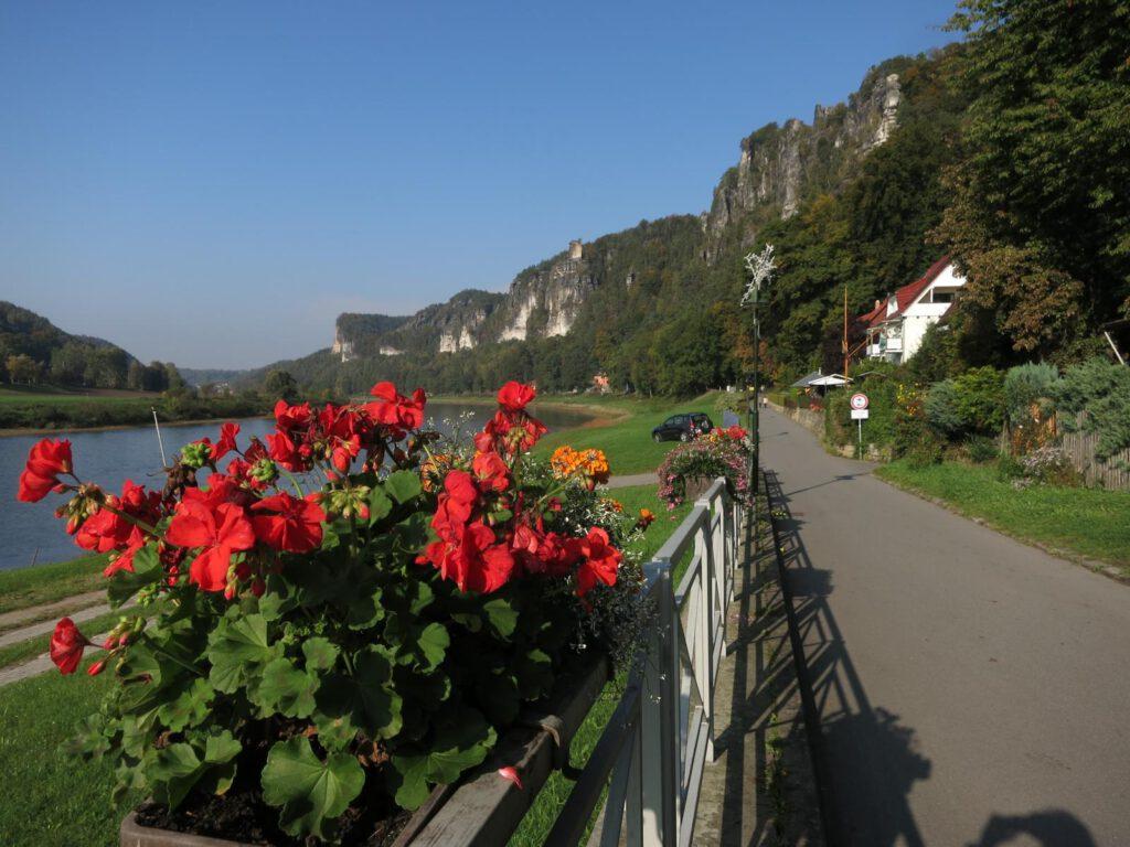 Auf dem Elberadweg nach Rathen