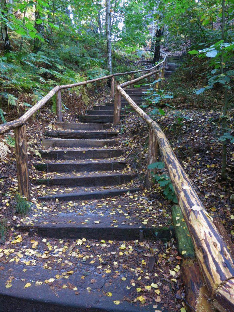 Treppenstufen zum Gamrig