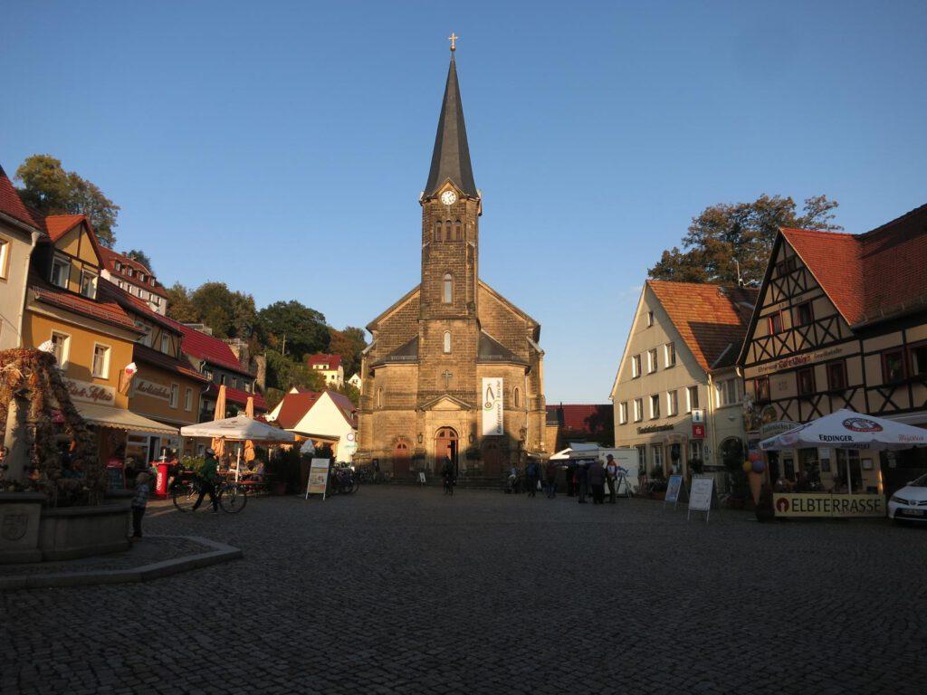 Marktplatz in Wehlen