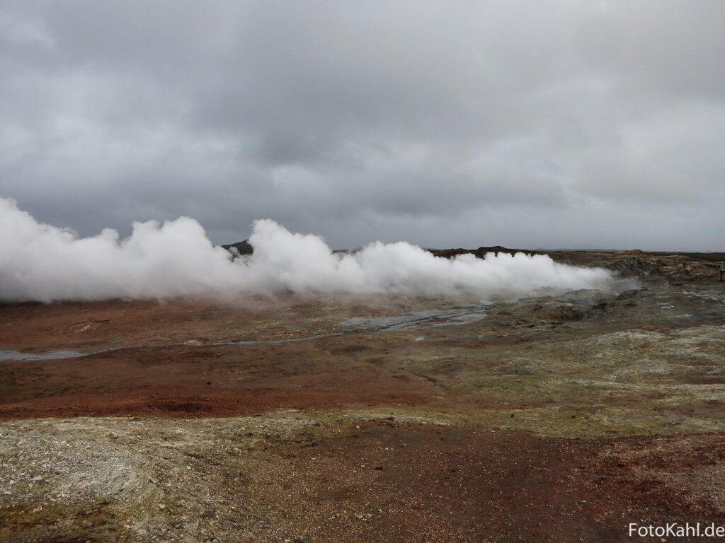 Solvatarenfeld auf der Halbinsel Reykjanes
