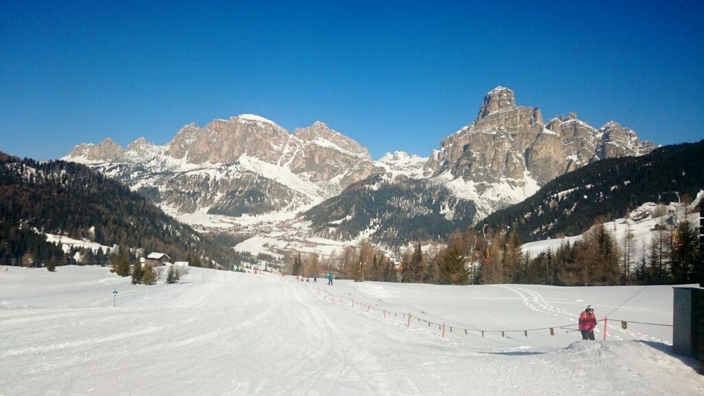 Im Skigebiet Alta Badia