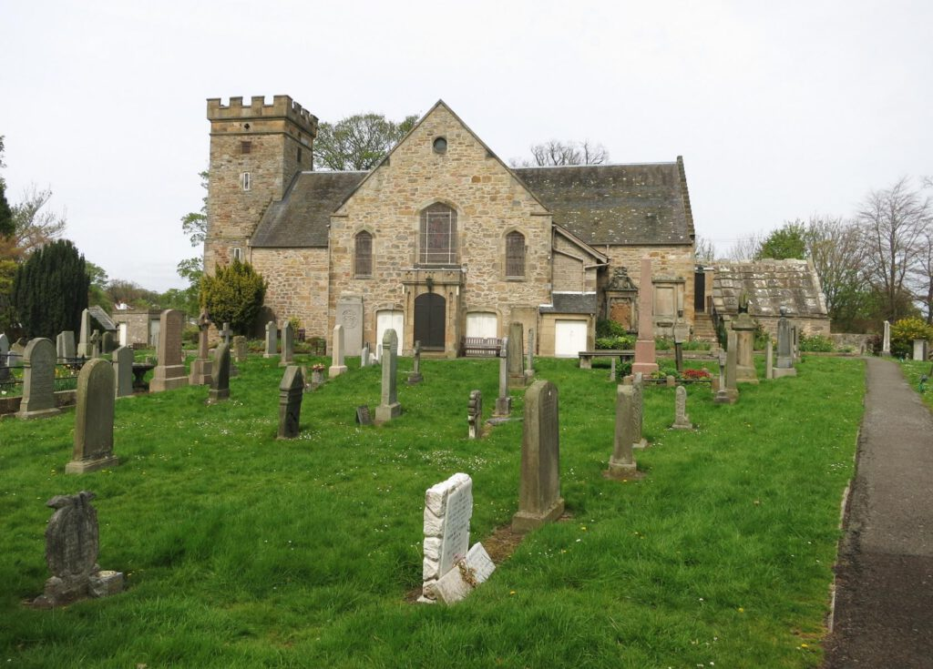 Cramond Kirche und Friedhof
