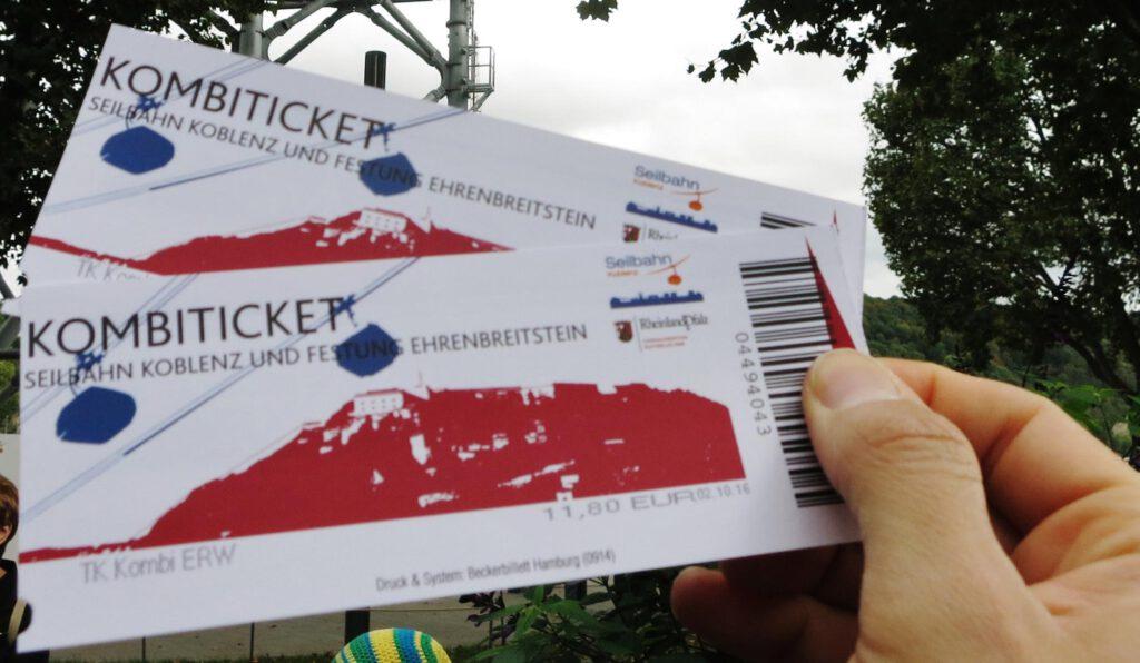 Tickets Seilbahn Koblenz