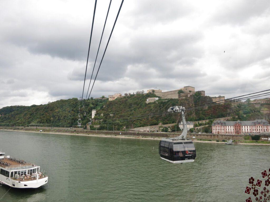 in der Seilbahn Koblenz