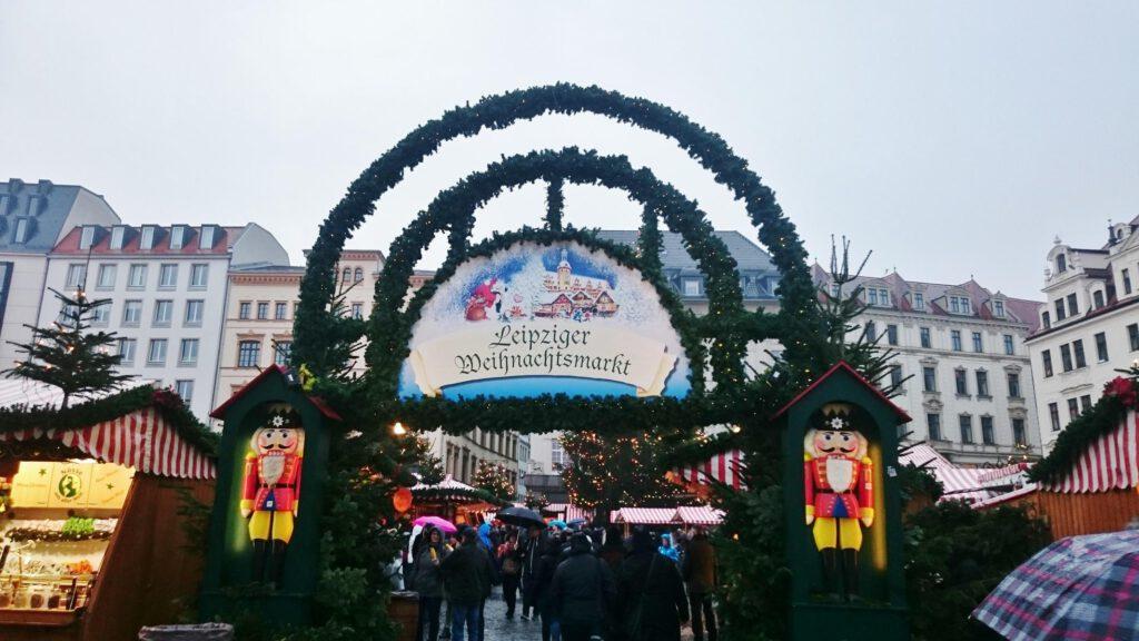 Weihnachtsmarkt Marktplatz Leipzig