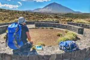Picknickplatz mit Blick zum Teide